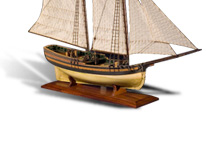 Schooner full-hull ship model by Mark Sutherland