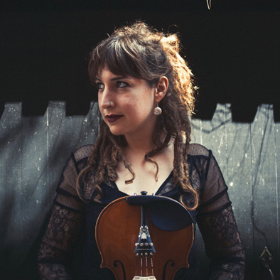 Emerald Rae Forman with violin, Cape Breton and Scottish fiddle, 2018; Emerald Rae Forman; Rockport, Massachusetts;