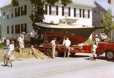 The Maria, circa 1971, Wooden boatbuilding & restoration, 2016; Essex. Massachusetts;