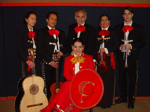 Veronica Robles with her mariachi band, Musician, ; Veronica Robles; Saugus, Massachusetts;