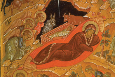 Detail Triptych of the Holy Nativity of Christ: 2000; Ksenia Pokrovsky (b. 1942)