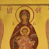 Lifegiving Spring; Russian icon; 2006; Ksenia Pokrovsky (b. 1942); Sharon, Massachusetts; Egg tempera, mineral pigments, gold leaf, wood; Collection of the artist